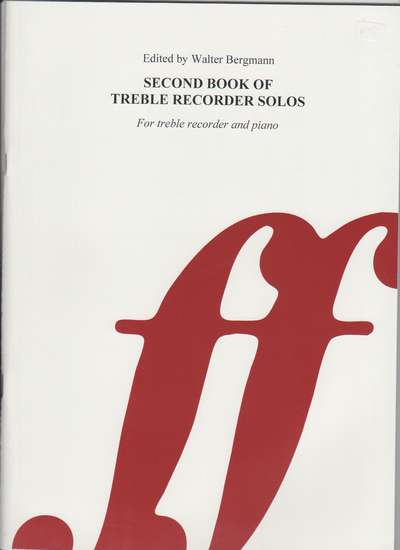 photo of Second Book of Treble Recorder Solos