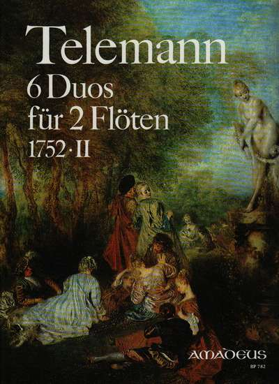 photo of 6 Duos für 2 Flöten, 1752, Vol. II, TWV 40:124-129