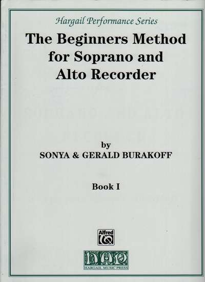 photo of The Beginners Method for Soprano and Alto Recorder I