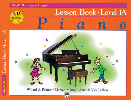 photo of Basic Piano Lesson Book, Level 1A, with CD