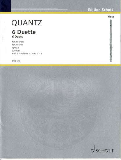 photo of 6 Duette for 2 Flutes, opus 2, Vol. I: No. 1-3