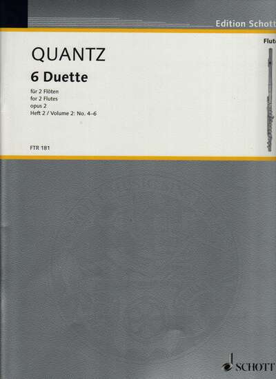 photo of 6 Duette for 2 Flutes, opus 2, Vol. I: No. 4-6