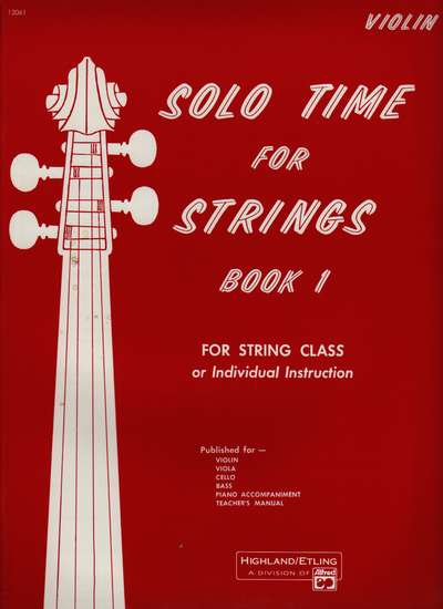 photo of Solo Time for Strings, Book 1, Violin