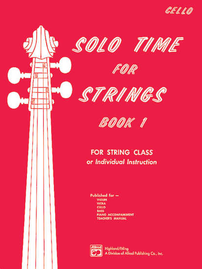 photo of Solo Time for Strings, Book 1, Cello