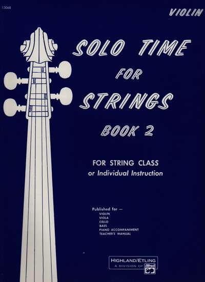 photo of Solo Time for Strings, Book 2, Violin