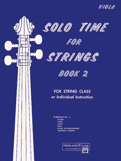 photo of Solo Time for Strings, Book 2, Viola