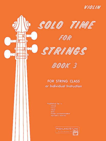 photo of Solo Time for Strings, Book 3, Violin