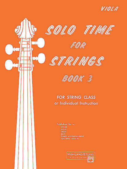 photo of Solo Time for Strings, Book 3, Viola