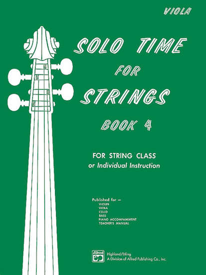 photo of Solo Time for Strings, Book 4, Viola