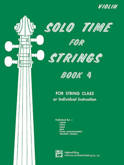photo of Solo Time for Strings, Book 4, Violin