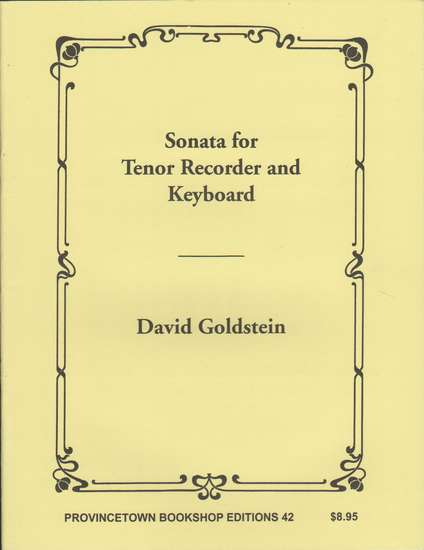 photo of Sonata for Tenor Recorder and Keyboard