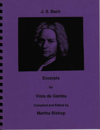 photo of J. S. Bach Excerpts for Viola da Gamba