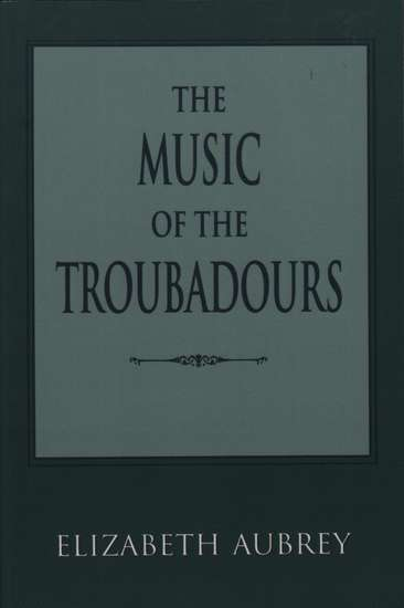 photo of The Music of the Troubadors (paper cover)