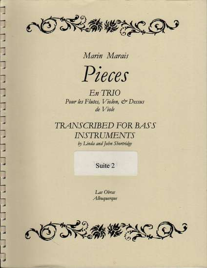 photo of Pieces en Trio, Suite 2 in d minor, transposed from suite g minor