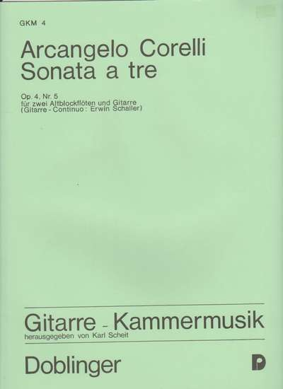 photo of Sonata a Tre, op. 4, no. 5