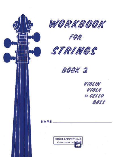 photo of Workbook for Strings, Book 2, Cello