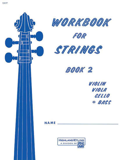 photo of Workbook for Strings, Book 2, Bass
