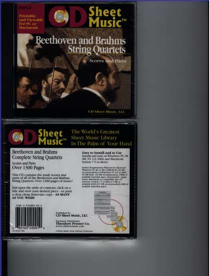 photo of Beethoven and Brahms Complete String Quartets (CD Sheet music)