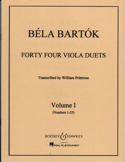 photo of Forty Four Viola Duets, Vol. I No. 1-25