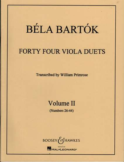 photo of Forty Four Viola Duets, Vol. II No. 26-44