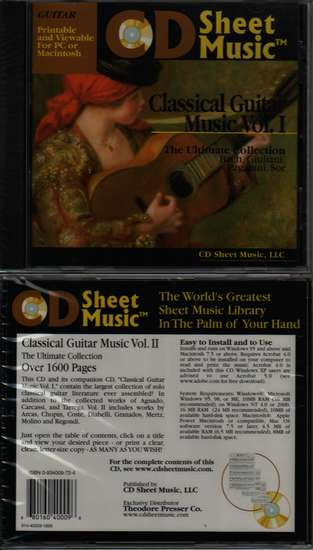 photo of Classical Guitar Music, Vol. 1, CD Sheet Music