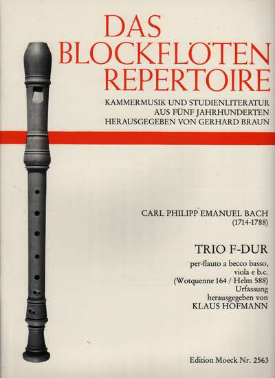 photo of Trio F-Dur for Bass recorder and Viola