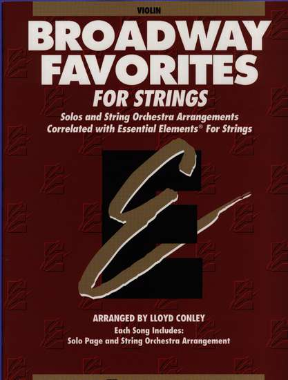 photo of Broadway Favorites for Strings, Violin Book