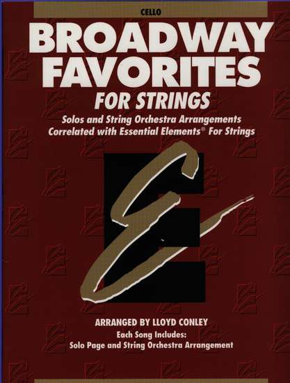 photo of Broadway Favorites for Strings, Cello Book