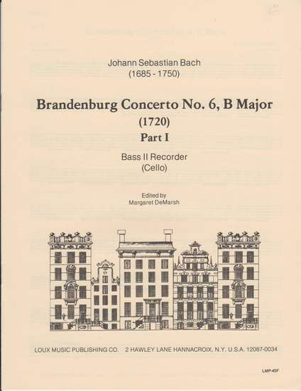 photo of Brandenburg Concerto No. 6. B Major, Part I