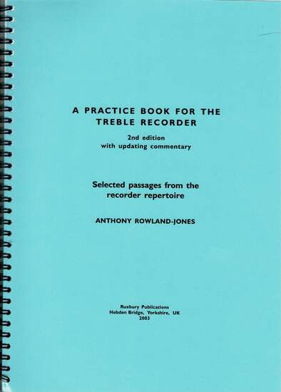 photo of A Practice Book for the Treble Recorder, 2nd, ed.