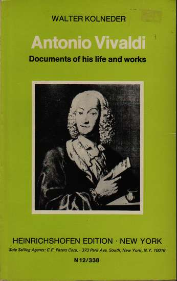 photo of Antonio Vivaldi, Documents of his life and works (paper)
