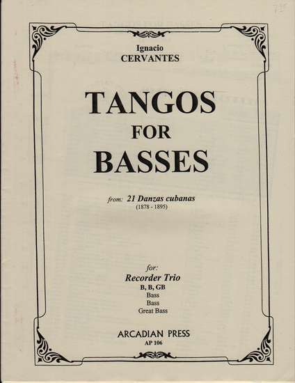 photo of Tangos for Basses