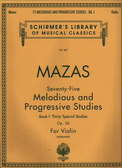 photo of 75 Melodious and Progressive Studies, Op. 36, Bk I