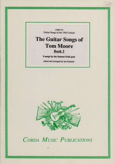 photo of The Guitar Songs of Tom Moore, Book 2, 9 song by the famous Irish poet