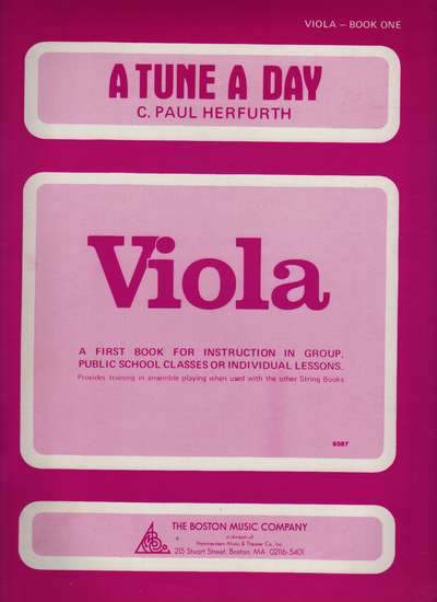 photo of A Tune A Day, Viola, Book One