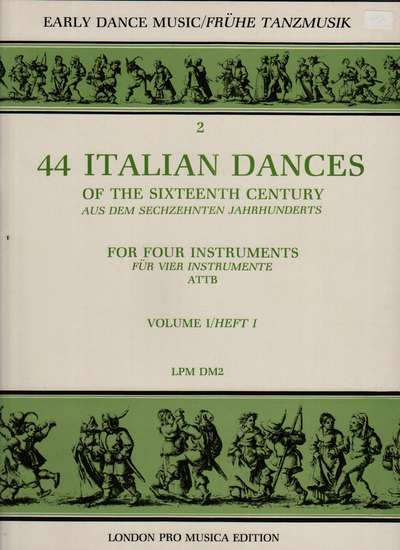 photo of 44 Italian Dances of the Sixteenth Century