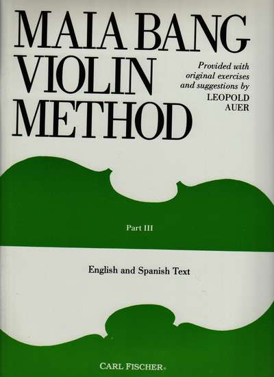 photo of Violin Method, Part III, English and Spanish Text