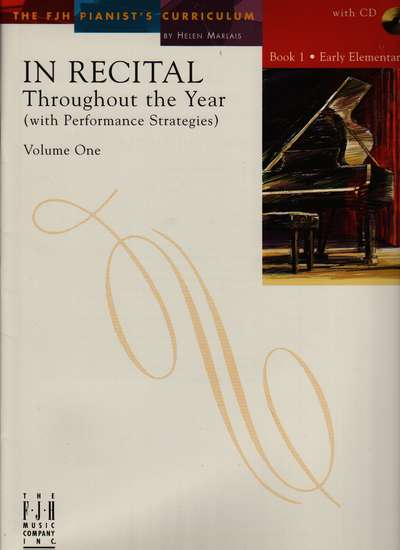 photo of In Recital Through the Year, Vol. I, Book 1