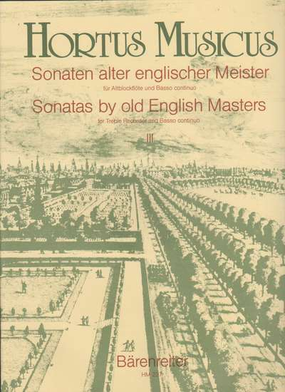 photo of Sonatas by old English Masters III