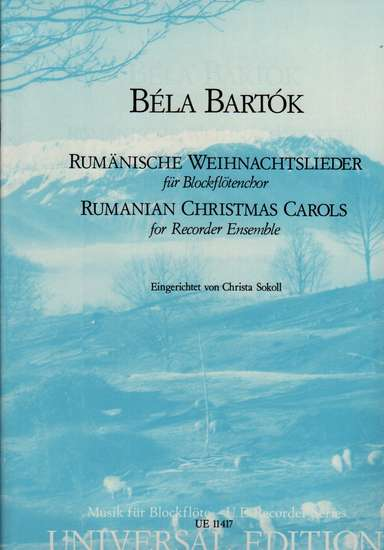 photo of Rumanian Christmas Carols for Recorder Ensemble