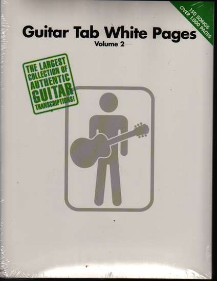 photo of Guitar TAB White Pages, Vol. 2,  150 song transcriptions, 1024 pp.