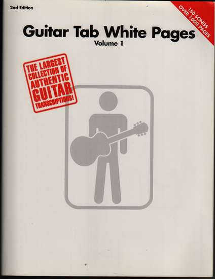 photo of Guitar TAB White Pages, Vol. 1,  150 song transcriptions, 1024 pp.