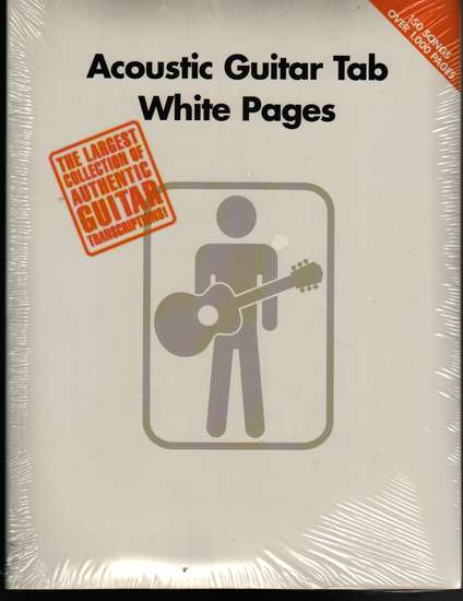 photo of Acoustic Guitar TAB White Pages,  150 song transcriptions, 1024 pp.