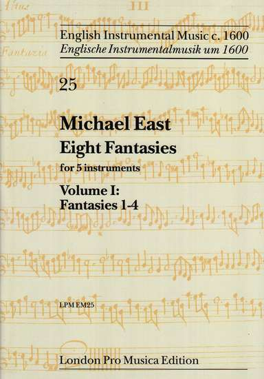 photo of Eight Fantasies for 5 instruments, Vol. I: Fantasies 1-4