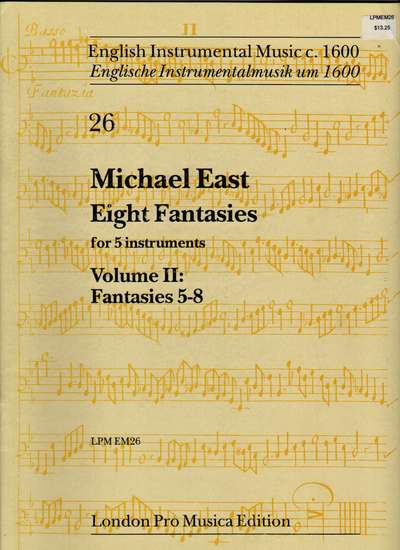 photo of Eight Fantasies for 5 instruments, Vol. II: Fantasies 5-8