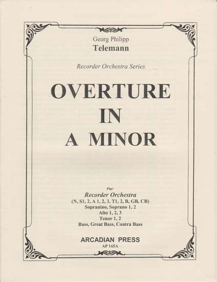 photo of Overture in A minor from First Suite