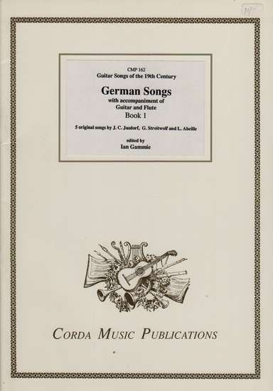 photo of German Songs with accompaniment of Guitar and Flute, Book 1