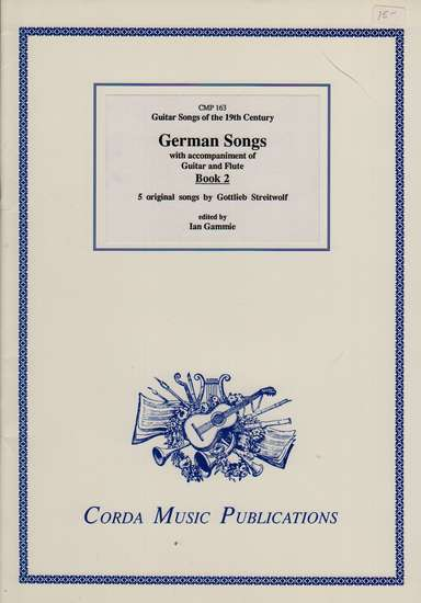photo of German Songs with accompaniment of Guitar and Flute, Book 2