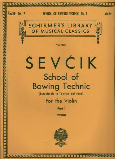 photo of School of Bowing Technic, Op. 2, Part 1