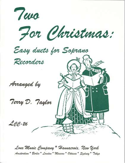 photo of Two For Christmas: 24 Easy duets for Soprano Recorders